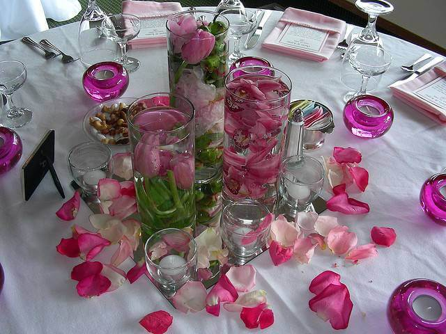 Flowers in Crystal Cups