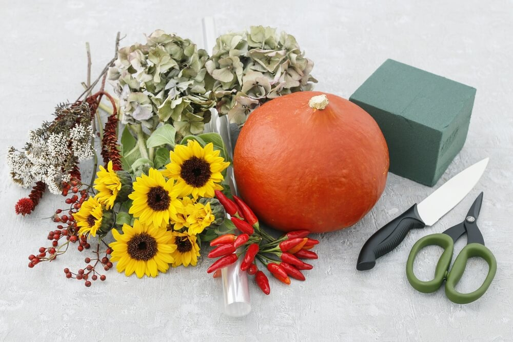 Halloween DIY: a different way to use pumpkins for durable, floral decor – step-by-step