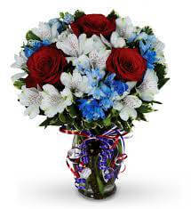 Red, White & Blue Arrangement