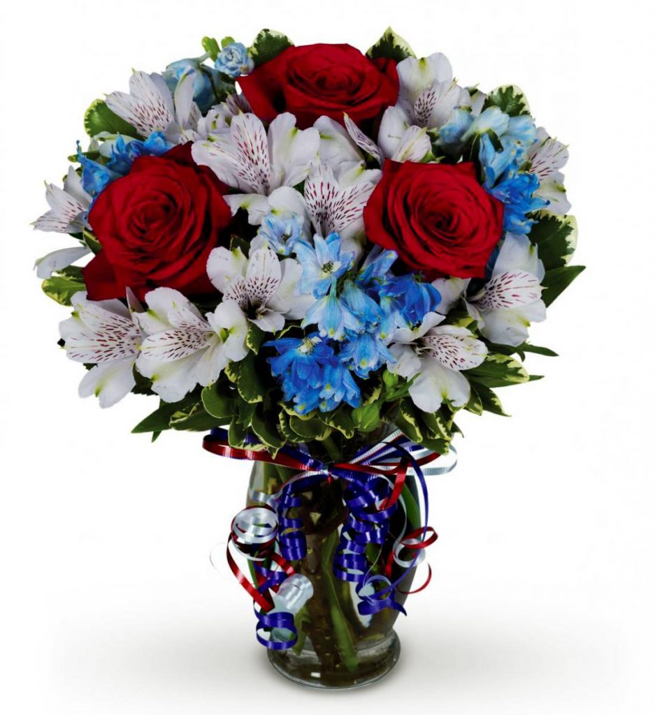 Blue and White Skies Memorial Day Bouquet
