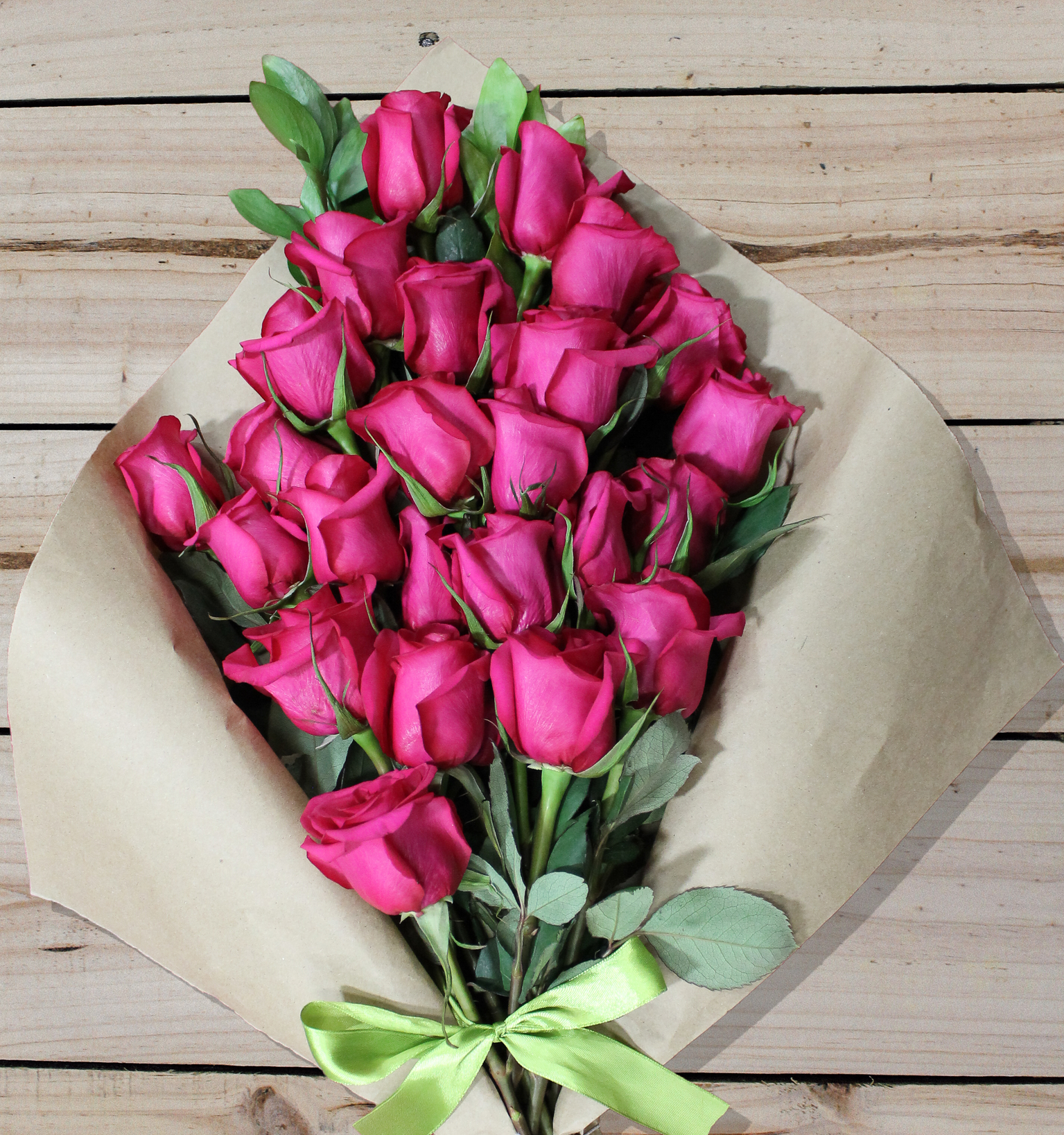 18 Pink Roses - Farm Fresh