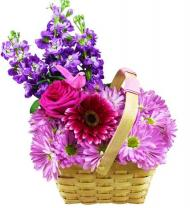 A Beautiful and Talented Mom Floral Basket