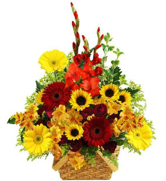 Applewood Floral Basket