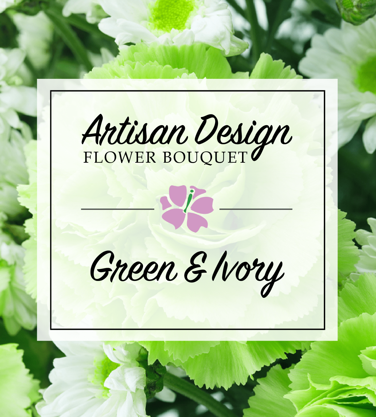 Artists Design Green And Ivory Avas Flowers