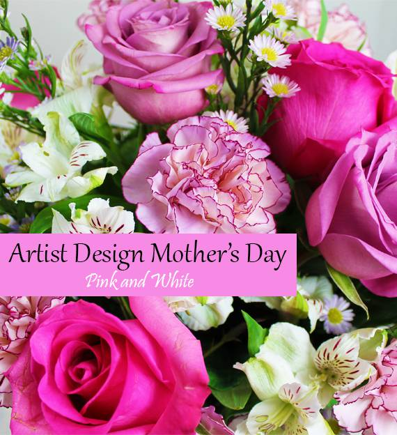 Artist's Design Mother's Day - Pink and White