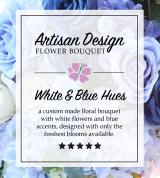 Artist's Design: White and Blue Hues