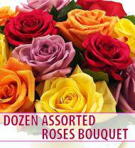 Dozen Assorted Roses Bouquet