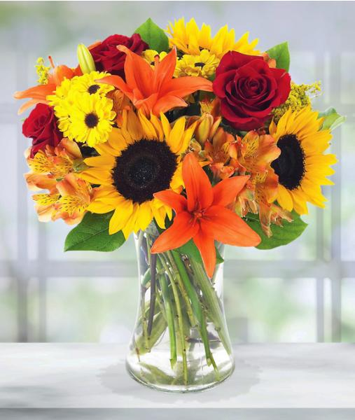 Fall Flower Arrangement - Deluxe