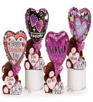 Bear Hug, Chocolate Kisses, & Valentine Balloon Combo