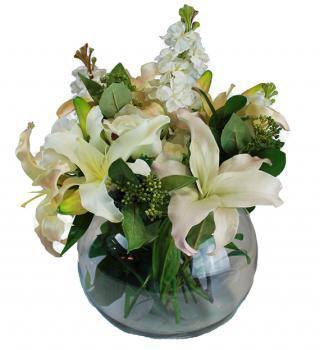 Blooming White Sympathy Vase
