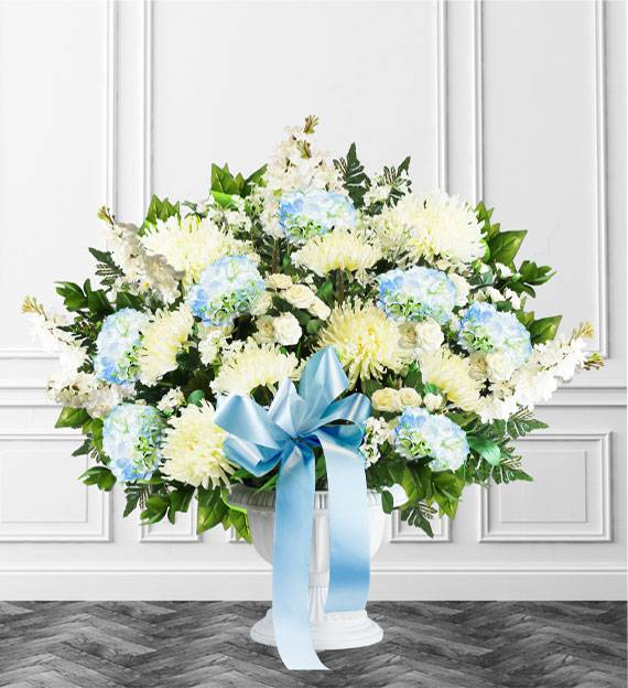 Blue Sympathy Floor Basket