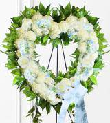 Blue Sympathy Heart Wreath