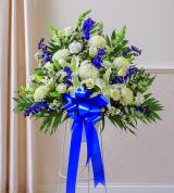 Blue Sympathy Standing Basket