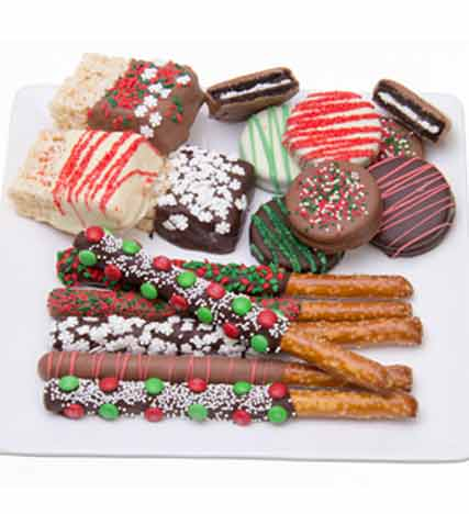 Chocolate Covered Holiday Sampler-15 pc