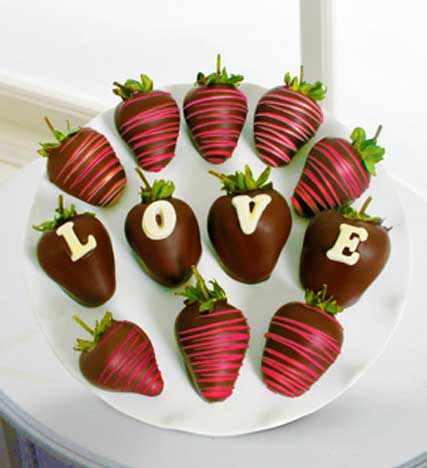 Chocolate Dipped Love Berry Gram Strawberries
