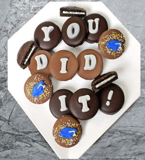 Chocolate Dipped You Did It! Graduation Oreo® Cookies
