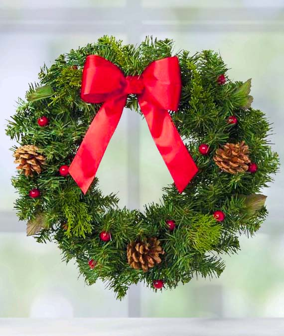 Christmas Wreath Avas Flowers