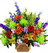 Traditional Colorful Sympathy Basket