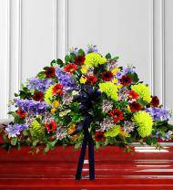 Colorful Sympathy Casket Spray