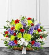 Colorful Sympathy Fireside Basket