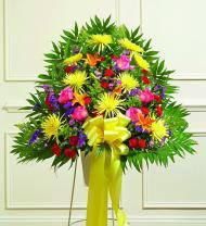 Colorful Sympathy Standing Basket