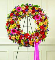 Colorful Sympathy Wreath