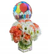Commencement Carnation & Daisy Balloon Bouquet
