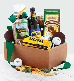 Dad's Tee-Riffic Golf and Goodies Gift Box