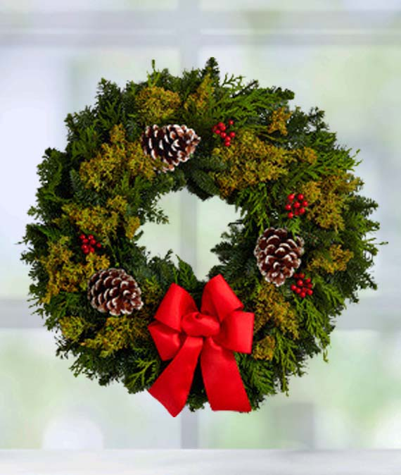 Deck the Halls Wreath 22in