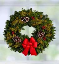 Deck the Halls Wreath 22in