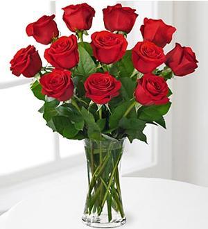 Flowers:_One_Dozen_Long_Stemmed_Red_Roses_In_Vase