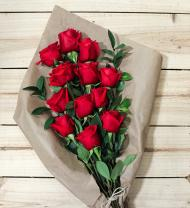 One Dozen Red Roses - Farm Fresh