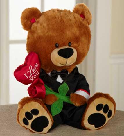 Dressed Up for Love Plush Teddy Bear