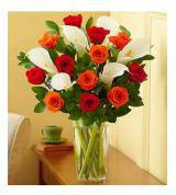 Fall Roses and Calla Lily Bouquet