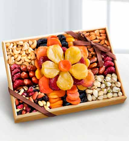 Flowering Dried Fruit and Nut Tray
