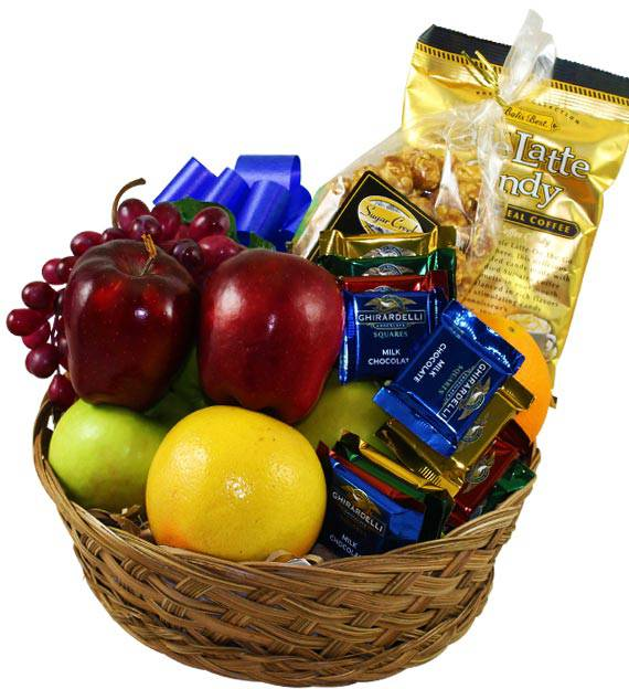 Fruit and Chocolate Sympathy Basket