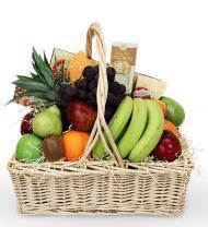 Fruit and Gourmet Sympathy Basket