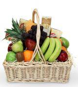 Fruit and Gourmet Sympathy Basket