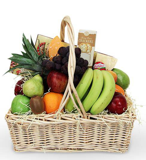 Flowers:_Fruit_And_Gourmet_Sympathy_Basket_-_Small