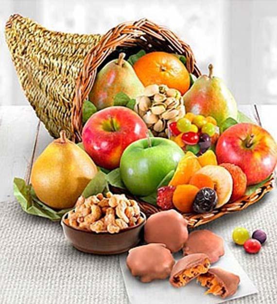 Fruitful Fall Harvest Cornucopia