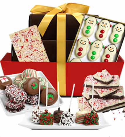 Fun Festive Chocolate Covered Holiday Basket