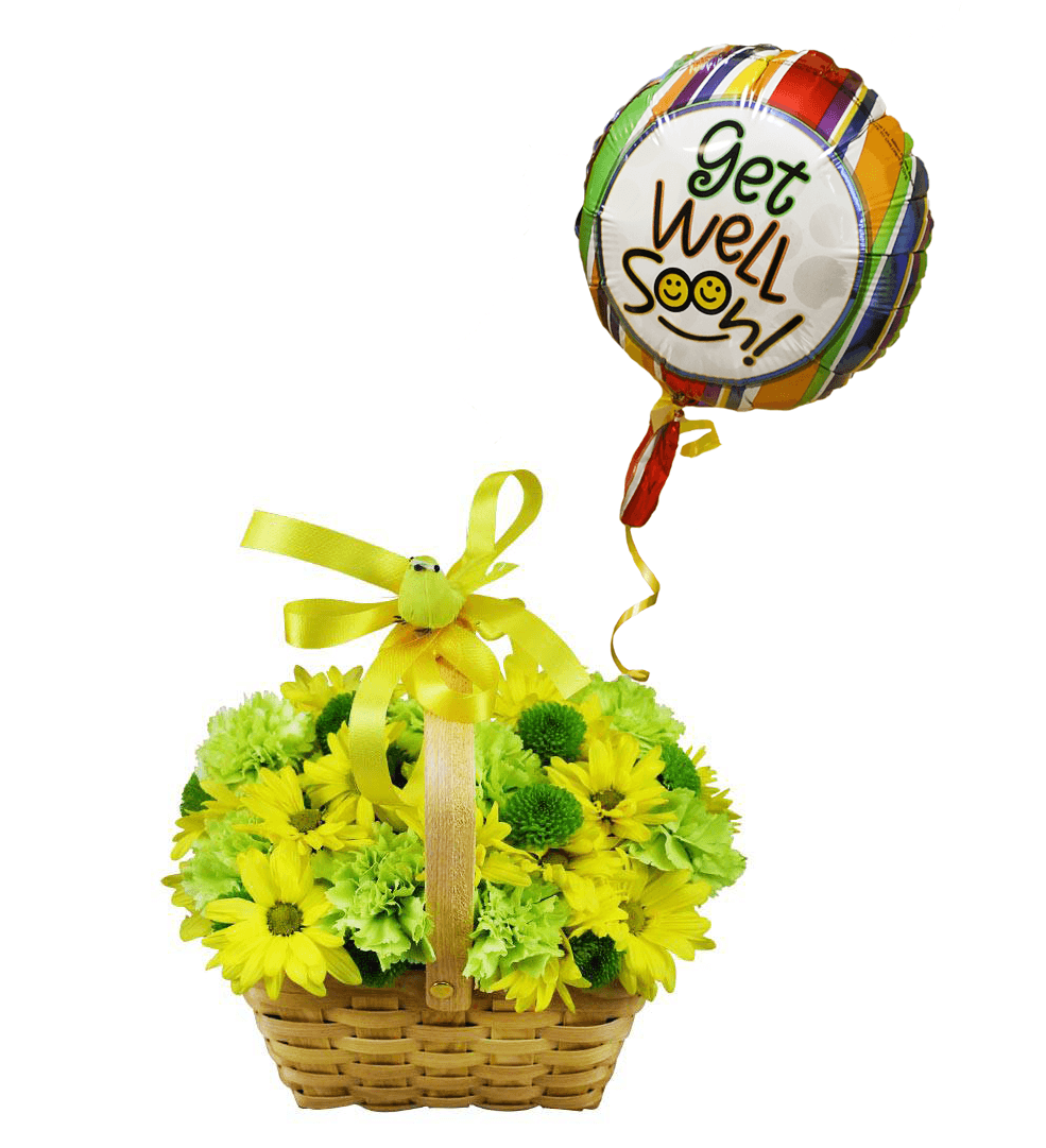 Get Well Flower Basket