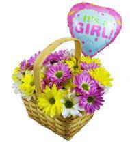 Girls Are Great Balloon and Flower Bouquet