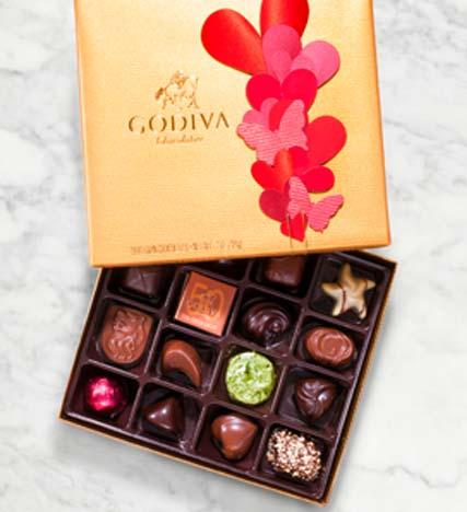 Godiva® Valentine's Day Gold Ballotin