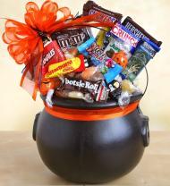 Halloween Cauldron of Chocolate Treats