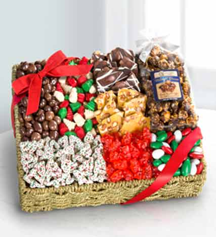 Holiday Delights Chocolate & Sweets Gourmet Gift Basket