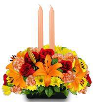 Jeweled Autumn Centerpiece