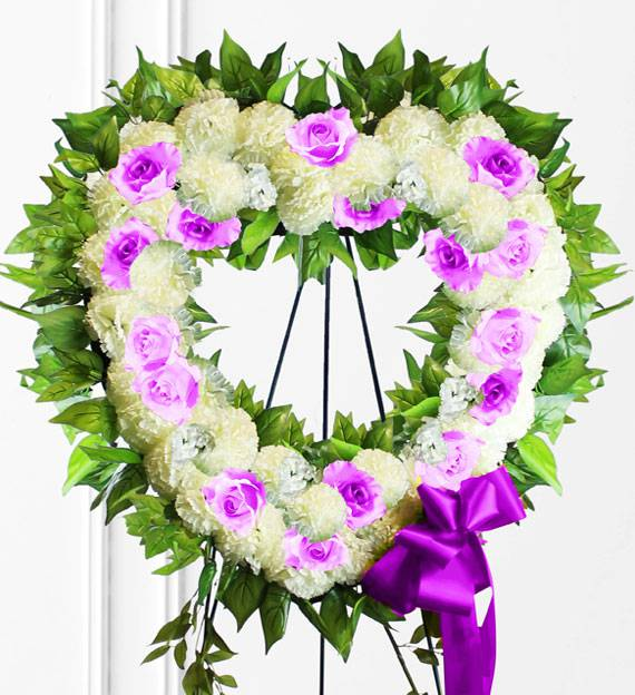 Lavender Sympathy Heart Wreath