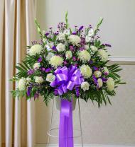Lavender Sympathy Standing Basket