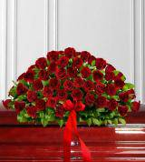 Timeless Red Rose Casket Spray